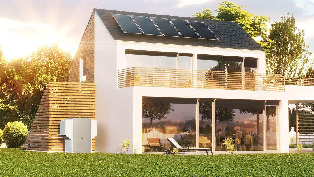Casas con placas solares cool paneles solares en el campo - Casas con placas solares ...